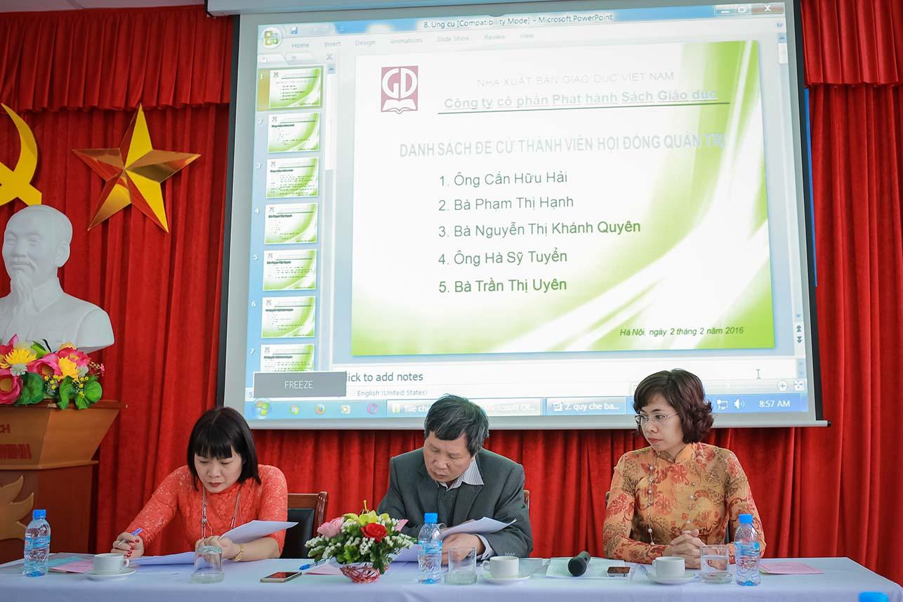 Đại hội đồng cổ đông lần thứ nhất - Công ty CP Phát hành Sách Giáo dục